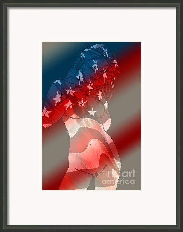 America Framed Print By Tbone Oliver