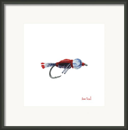 American Bead Head Framed Print By Sean Seal