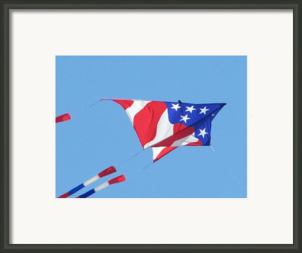 American Flag Kite Framed Print By Gregory Smith
