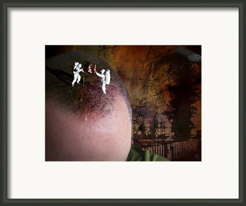 American Head Framed Print By Nafets Nuarb