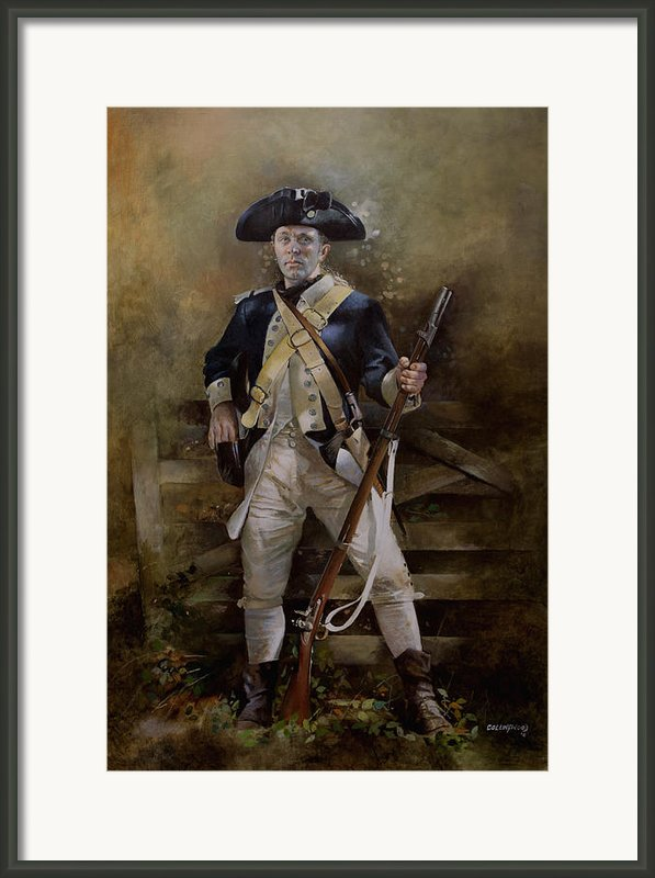 American Infantryman C.1777 Framed Print By Chris Collingwood