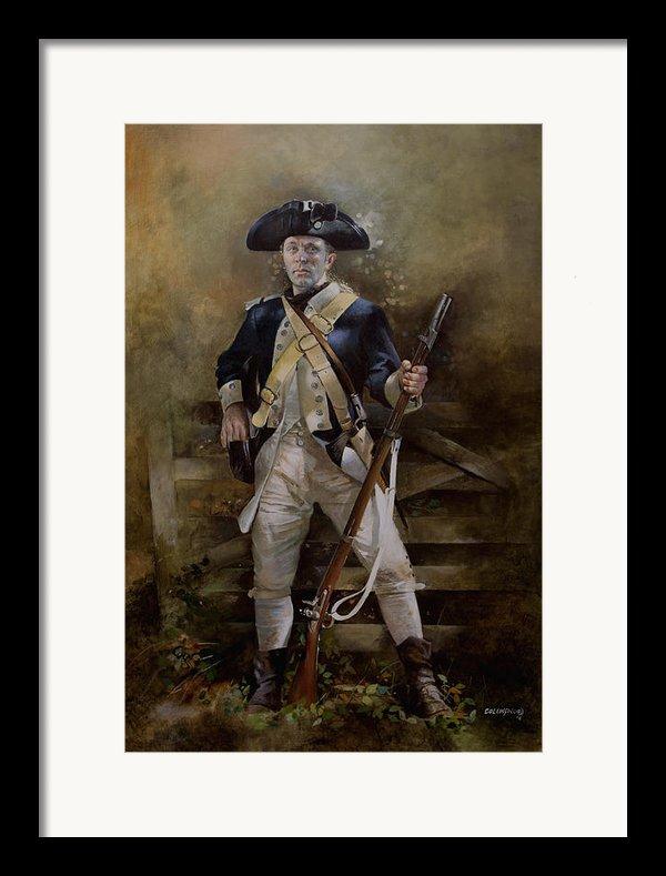 American Infantryman C.1777 Framed Print By Chris Collingwood