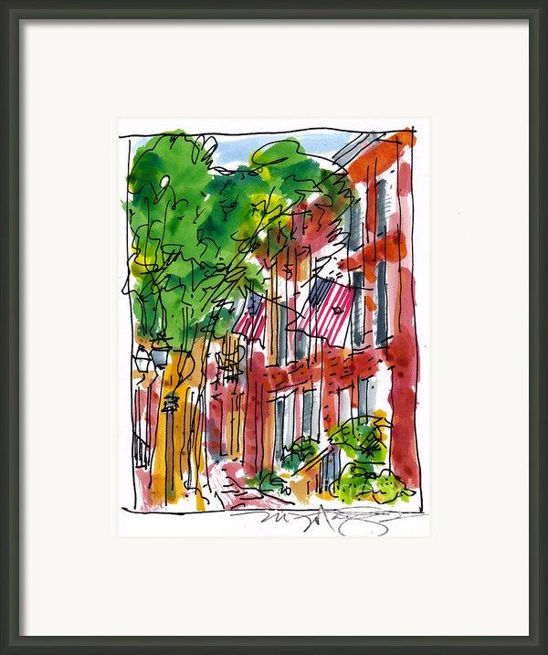 American Street Philadelphia Framed Print By Marilyn Macgregor