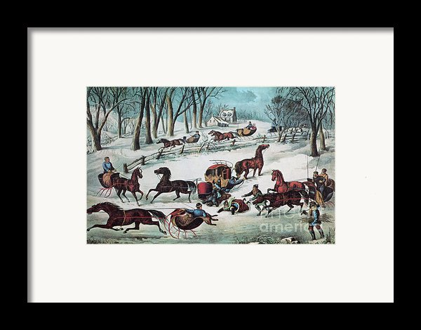 American Winter 1870 Framed Print By Photo Researchers