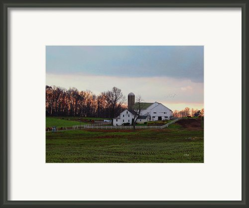 Amish Farm At Dusk Framed Print By Gordon Beck