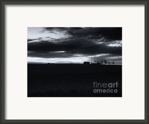 Amish Sunrise Black And White Framed Print By Joshua House