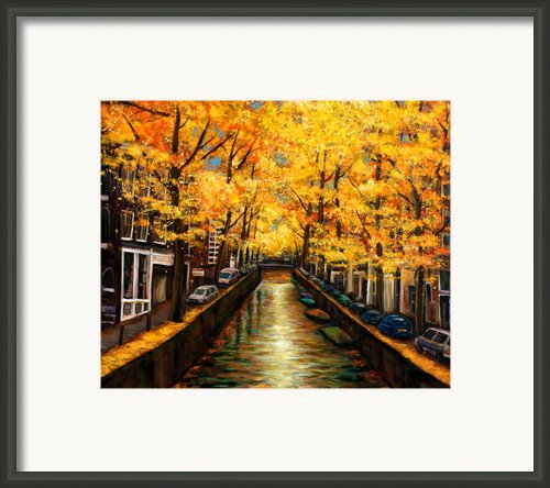 Amsterdam Autumn Framed Print By Johnathan Harris