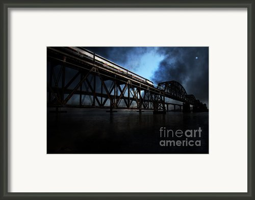 Amtrak Midnight Express - 5d18829 Framed Print By Wingsdomain Art And Photography