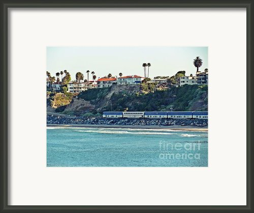Amtrak Surfliner Framed Print By Traci Lehman