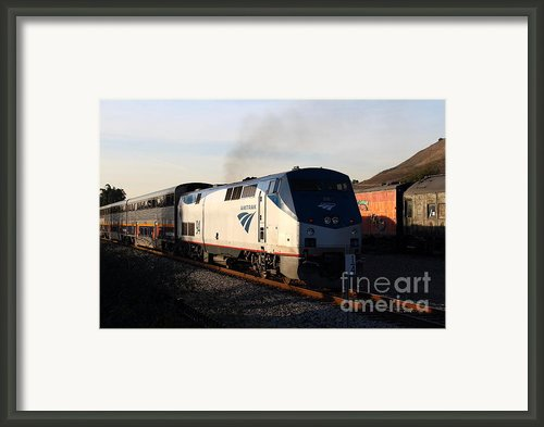 Amtrak Trains At The Niles Canyon Railway In Historic Niles District California . 7d10856 Framed Print By Wingsdomain Art And Photography