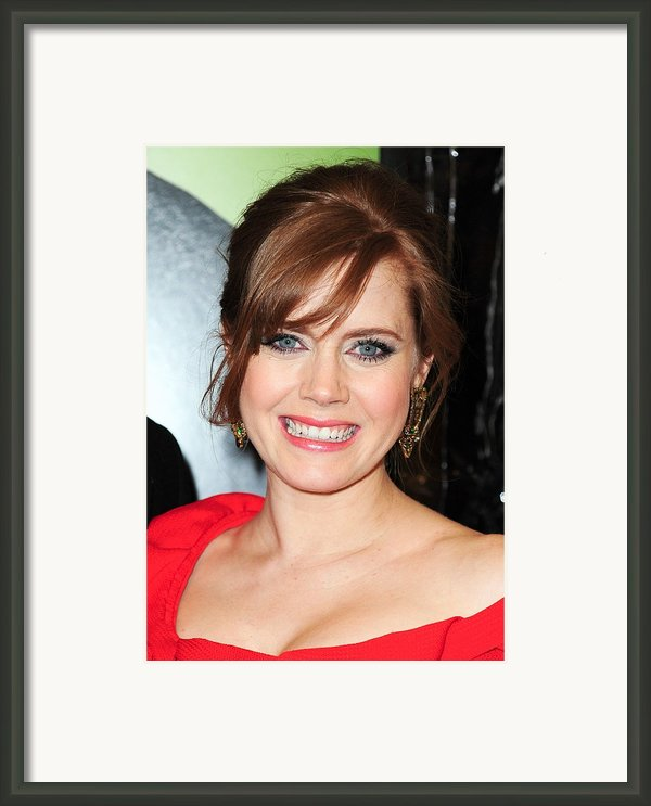 Amy Adams At Arrivals For Leap Year Framed Print By Everett