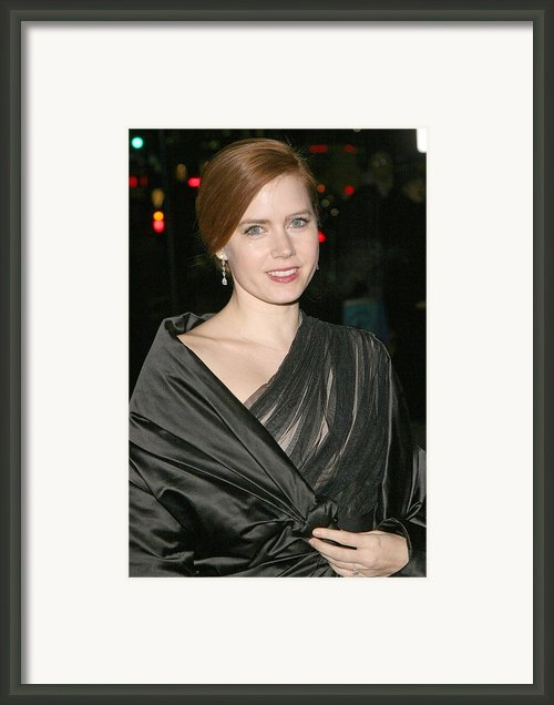 Amy Adams At Arrivals For The 2008 Framed Print By Everett