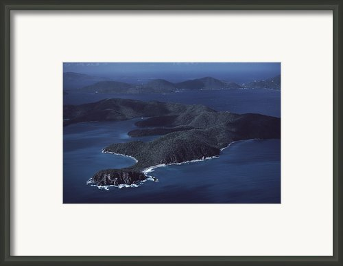 An Aerial Of Saint John Island Framed Print By Ira Block