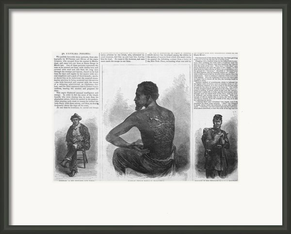 An African American Runaway Slave Named Framed Print By Everett