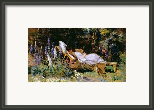 An Afternoon Nap Framed Print By Harry Mitten Wilson