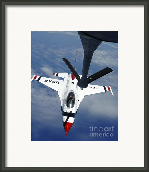 An Altus Kc-135 Stratotanker Refuels Framed Print By Stocktrek Images