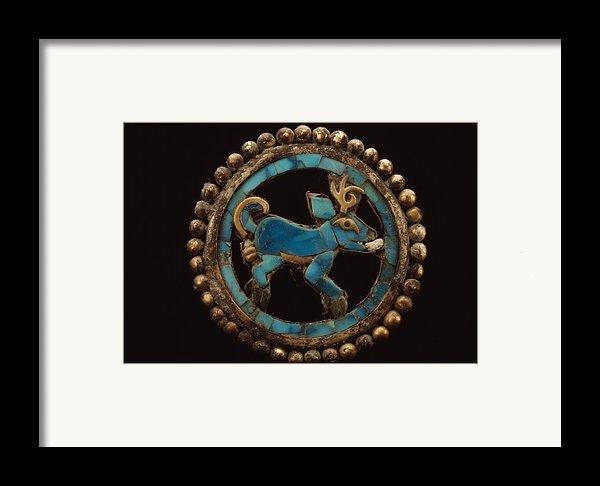 An Ancient Moche Indian Ear Ornament Framed Print By Bill Ballenberg
