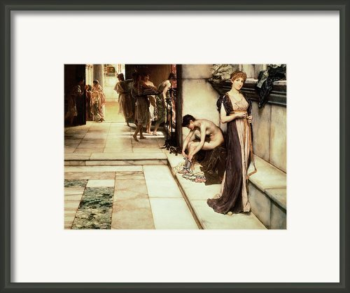 An Apodyterium Framed Print By Sir Lawrence Alma-tadema