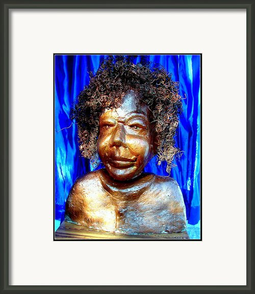 An Indian Saint Stya Sai Baba Framed Print By Anand Swaroop Manchiraju