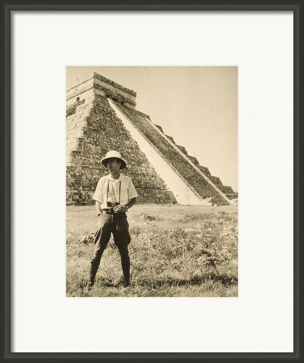 An Informal Portrait Of Photographer Framed Print By Luis Marden