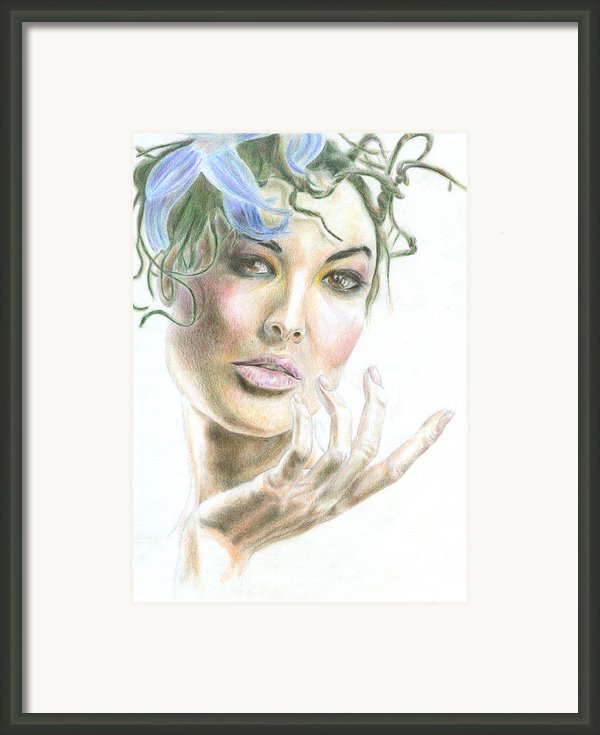 An Inviting Model Framed Print By Fabio Cicala