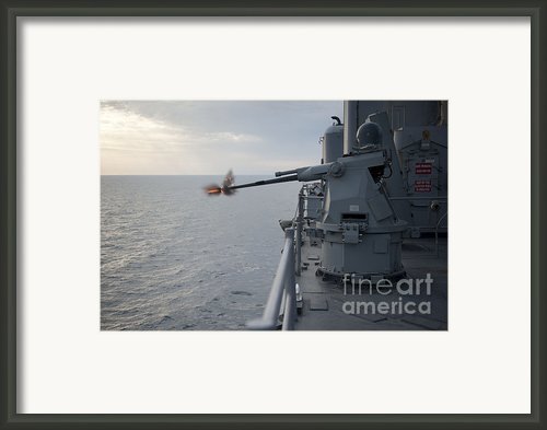 An Mk38 Mod 2 25mm Machine Gun System Framed Print By Stocktrek Images