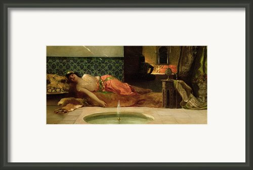 An Odalisque In A Harem Framed Print By Benjamin Constant