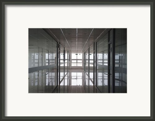 An Office Interior. Modern Framed Print By Guang Ho Zhu