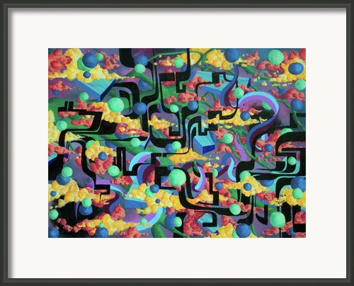 Ancient Coding Framed Print By Infinite Geometry