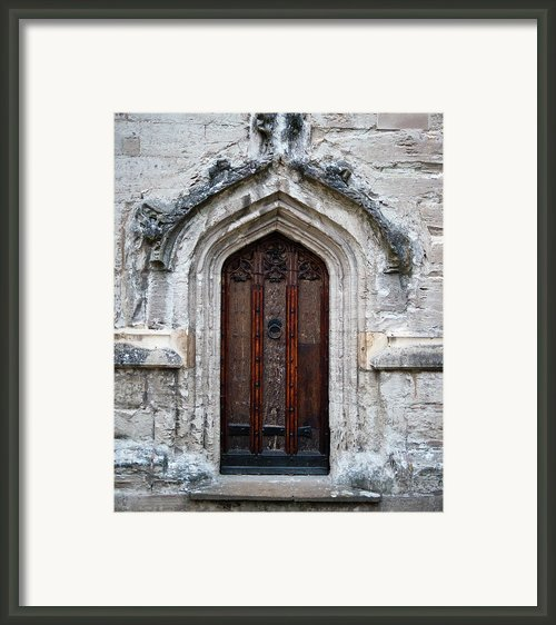 Ancient Door Framed Print By Douglas Barnett