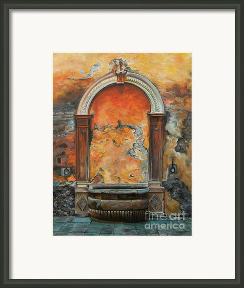 Ancient Italian Fountain Framed Print By Charlotte Blanchard