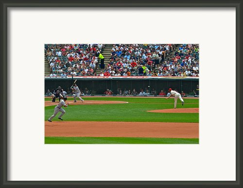 And The Runner Goes Framed Print By Robert Harmon