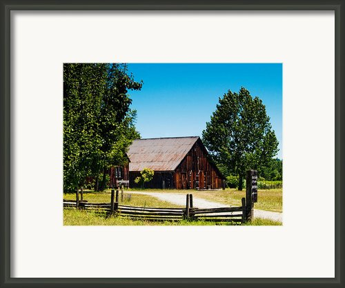 Anderson Valley Barn Framed Print By Bill Gallagher