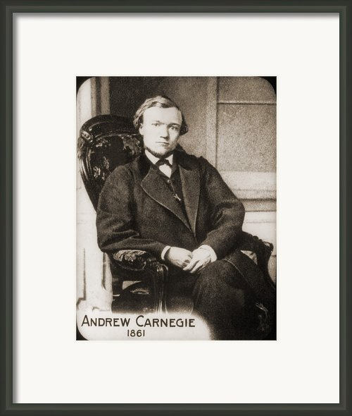 Andrew Carnegie 1835-1919 In 1861, When Framed Print By Everett