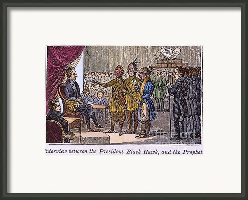 Andrew Jackson: Native Americans Framed Print By Granger