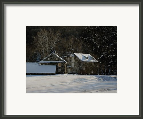 Andrew Wyeth Estate In Winter Framed Print By Gordon Beck