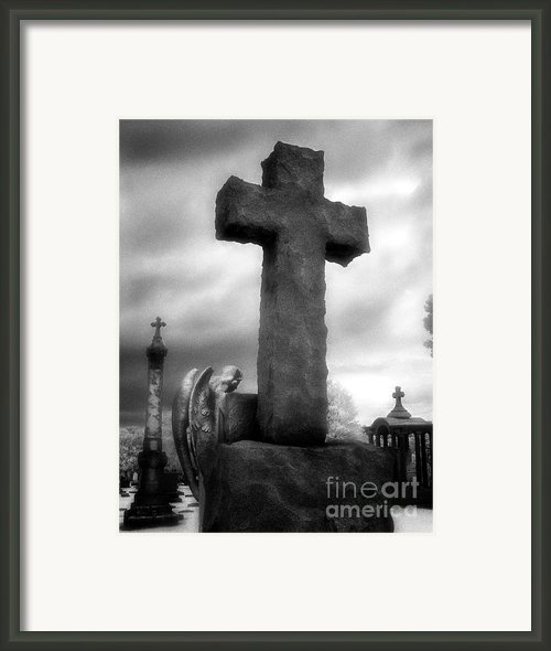 Angel And Cross Framed Print By Jeff Holbrook