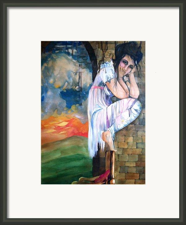 Angel And The Mushroom Cloud Framed Print By Jackie Rock
