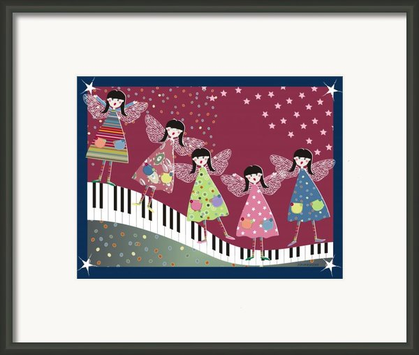 Angel  Choir Framed Print By Johanna Virtanen