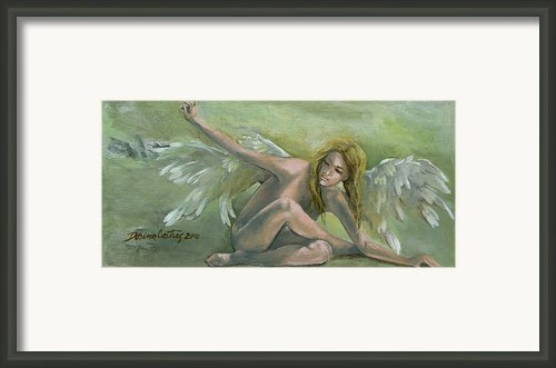 Angel Framed Print By Dorina  Costras