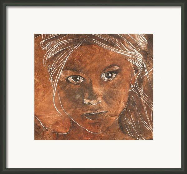 Angel In Process Head Detail Framed Print By Richard Hoedl