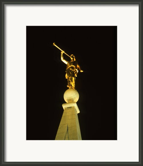 Angel Moroni Framed Print By Troy Montemayor