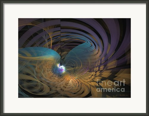Angel Of The Subconscious Framed Print By Fractal Art - Sipo Liimatainen