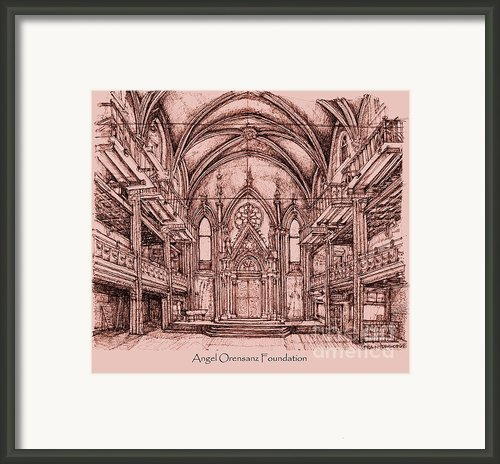 Angel Orensanz In Dark Pink Framed Print By Lee-ann Adendorff