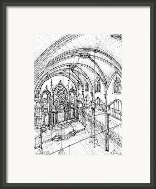 Angel Orensanz Sketch 3 Framed Print By Lee-ann Adendorff