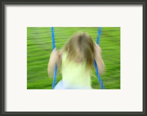 Angel Swing Framed Print By Aimelle