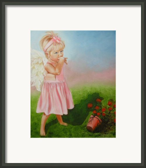 Angel Thumbs Framed Print By Joni Mcpherson
