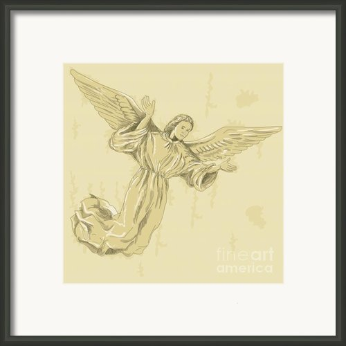 Angel With Arms Spread Framed Print By Aloysius Patrimonio