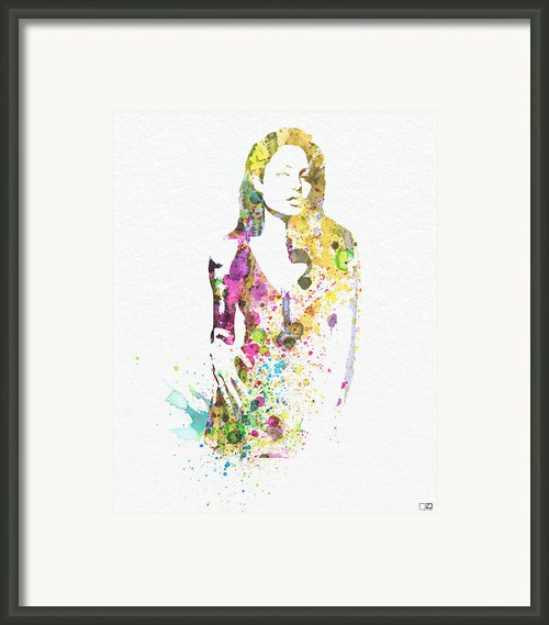 Angelina Jolie 2 Framed Print By Irina  March