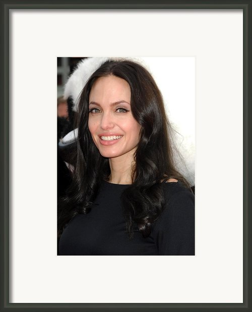 Angelina Jolie At Arrivals For Dvd Framed Print By Everett